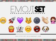 Emoji 苹果手机表情符号素材【美图秀秀笔刷包】