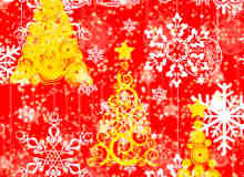 另类圣诞树、雪花图案Photoshop笔刷