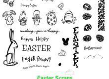 手绘复活彩蛋等装饰图案Photoshop笔刷