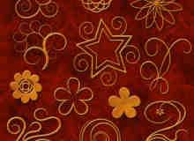 漩涡形状花纹图案photoshop自定义形状素材 .csh 下载