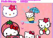 呆萌Hello Kitty美图素材下载