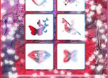 非主流美图花纹、钻石、蝴蝶等美图Photoshop笔刷素材