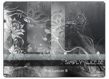 漂亮的植物花纹照片美图背景边框饰品PS笔刷 #.12