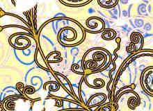 漂亮的植物花纹照片美图背景边框饰品PS笔刷 #.27