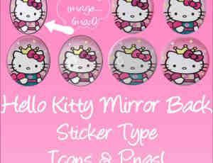 可爱Hello Kitty徽章佩饰美图素材