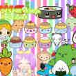 超级可爱蛋糕、蔬菜等卡通造型美图素材