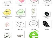 气泡标语对话框可爱照片装饰素材