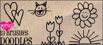幼儿园涂鸦卡通画Photoshop笔刷