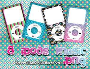 iPod 音乐播放器照片背景相框美图素材