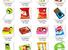 小清新呆萌!卡通薯片、饼干、巧克力、牛奶等零食图片美图素材