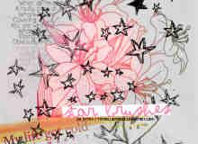 童趣手绘五角星、星星涂鸦Photoshop笔刷素材
