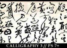 中国书法字体Photoshop笔刷素材
