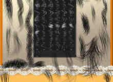 精细的发丝、毛发CG绘画Photoshop笔刷素材