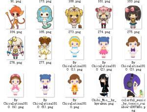 50个卡哇伊卡通日本小女孩美图素材打包下载