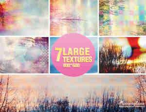 7张光影森林照片背景装饰图片素材