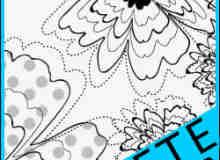 灿烂手绘花朵Photoshop美图笔刷