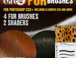 仿真细腻毛发材质Photoshop笔刷素材下载