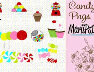 卡通蛋糕糖果美图素材下载