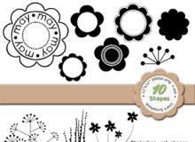 漂亮的植物花纹、花朵图案photoshop自定义形状素材 .csh 下载