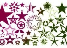 65种漂亮的五角星图形Photoshop笔刷