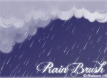 唯美CG下雨背景Photoshop笔刷