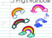 超可爱!童趣彩虹照片装饰美图秀秀素材包