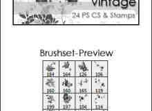 漂亮的植物花纹照片美图背景边框饰品PS笔刷 #.52