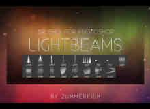 灯光照射、射灯、北极光、梦幻光影等photoshop光影特效笔刷