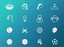 简洁体育图标PSD素材免费下载