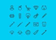 20个免费的牙科牙医主题PSD图标素材