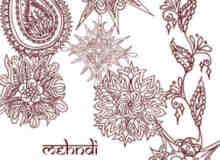 伊斯兰教式手绘植物花纹Photoshop美图笔刷 #.4