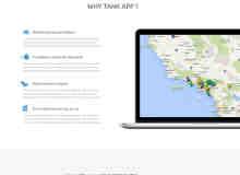 单页之企业形象展示页面PSD素材下载