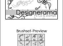 漂亮的植物花纹照片美图背景边框饰品PS笔刷 #.53