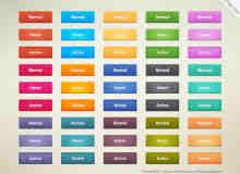 多彩免费立体按钮PSD素材下载