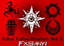 部落纹饰图案、非主流纹身Photoshop笔刷 #.5