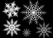 漂亮的手绘雪花图案Photoshop笔刷素材