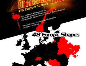 世界地图photoshop自定义形状素材 .csh 下载