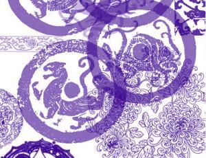 中华民族古典花纹图案Photoshop笔刷素材