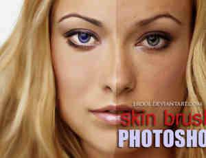 细腻皮肤纹理Photoshop美图笔刷