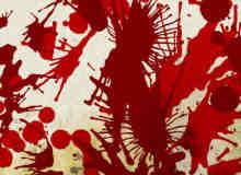 血液滴溅、油漆喷溅photoshop自定义形状素材 .csh 下载