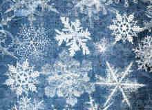 真实圣诞节的雪花、冰晶Photoshop笔刷素材