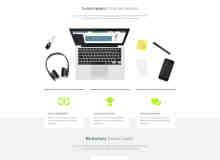 潮流企业风格PSD网页模板素材下载