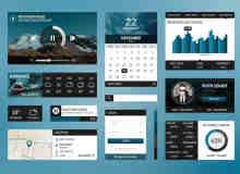 网页UI工具包PSD素材下载 #.1
