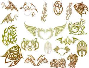 酷炫非主流邪恶的纹饰、纹身图案Photoshop笔刷素材