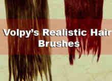真实的头发、毛发Photoshop笔刷素材