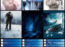 高品质雪花、雪地、下雪、霜冻等雪景Photoshop笔刷
