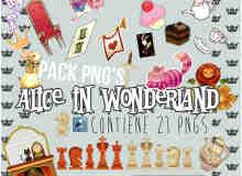 已扣图!20个童话王国卡通PNG素材美图秀秀素材包