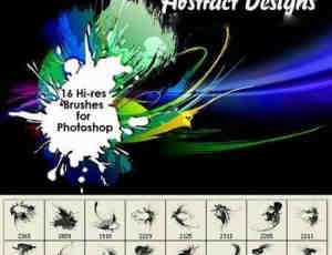 油漆涂抹刷子效果Photoshop笔刷素材