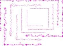 漂亮的线条花纹边框Photoshop笔刷素材