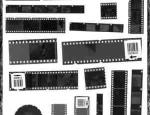 真实的胶片、电影胶卷、相片胶卷Photoshop笔刷素材